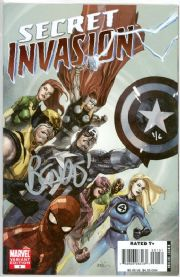 Secret Invasion #1 Yu Retail Variant Dynamic Forces Signed Brian Bendis DF COA Marvel comic book
